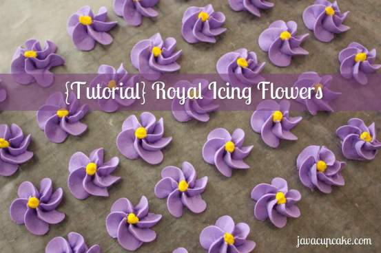 {Tutorial} Royal Icing Flowers by JavaCupcake.com