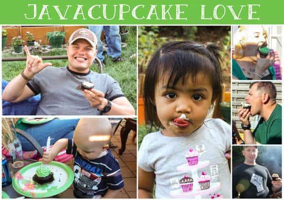 Adults & Kids eating and loving JavaCupcake!
