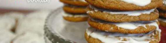 White Chocolate Molasses Cookies - thin and chewy molasses cookies topped with white chocolate | JavaCupcake.com