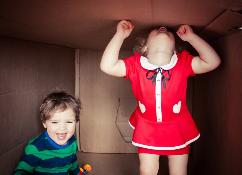 h & m dress baby gap twins playing in giant box