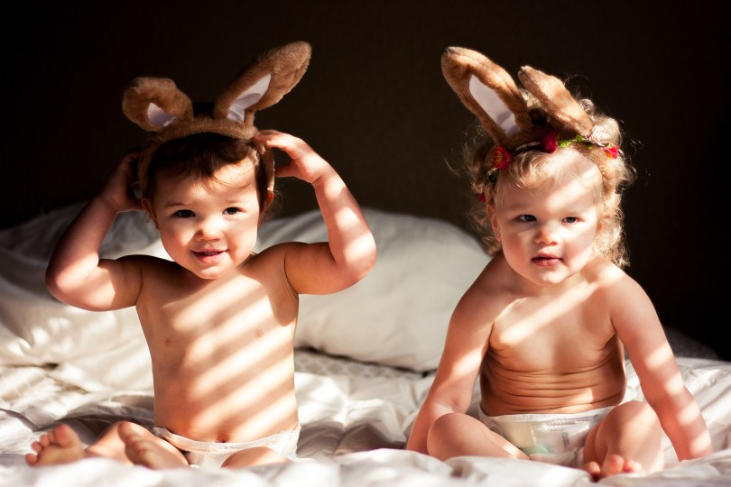 Flashback: Easter 2015 Twin Toddler Photography