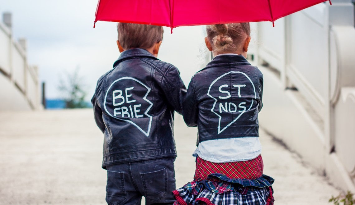 DIY Boy Girl Twins Best Friends Jackets {NYFW Inspired}