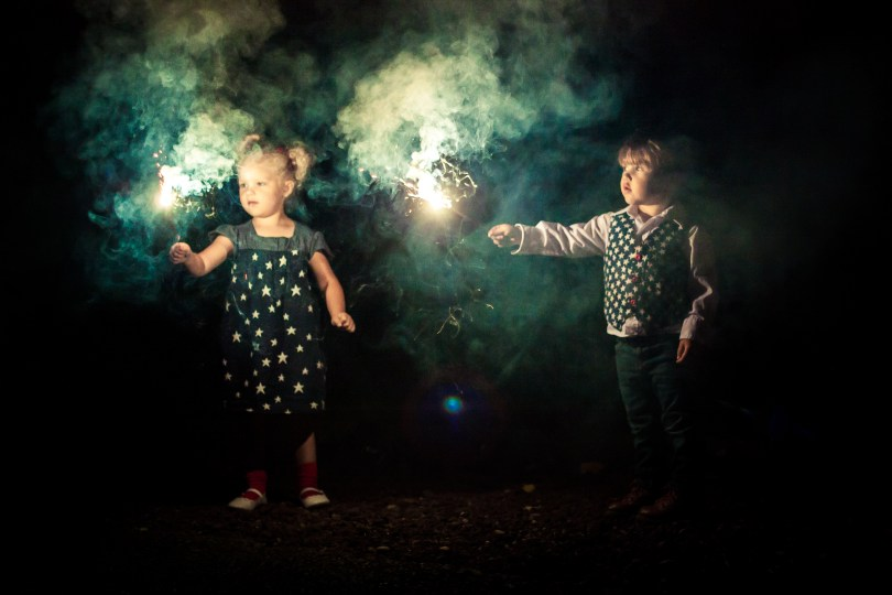 Fourth of July Sparkler Photoshoot