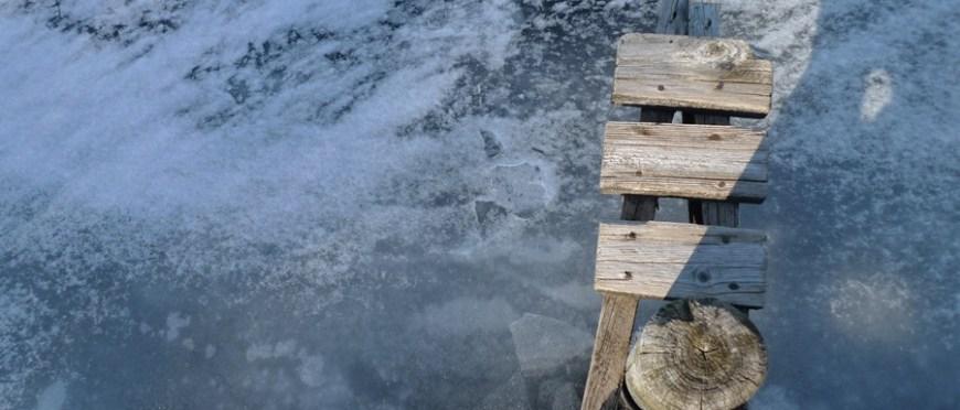 zamarznięty fjord