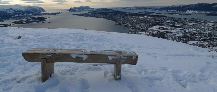 widok z góry na Alesund
