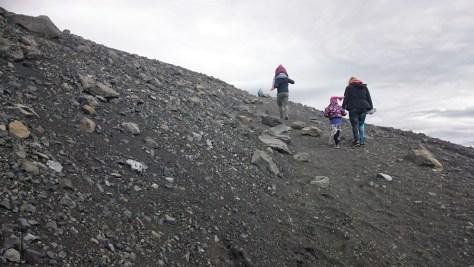 wejście na krater