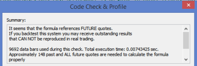 amibroker code check future leak