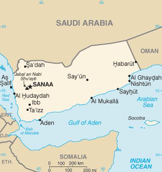 A map of Yemen