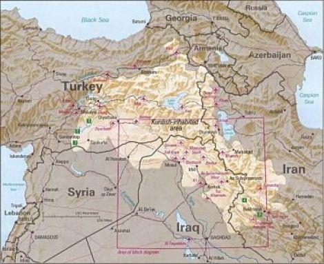 Kurdish inhabited areas (CIA)