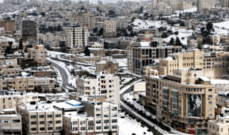 Hebron covered in snow on December 13, 2013