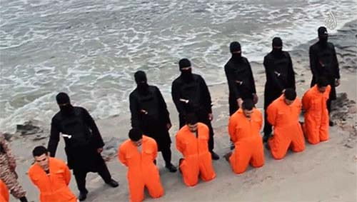 The beheading of 21 Egyptian Coptic Christians in Libya by ISIS militants.