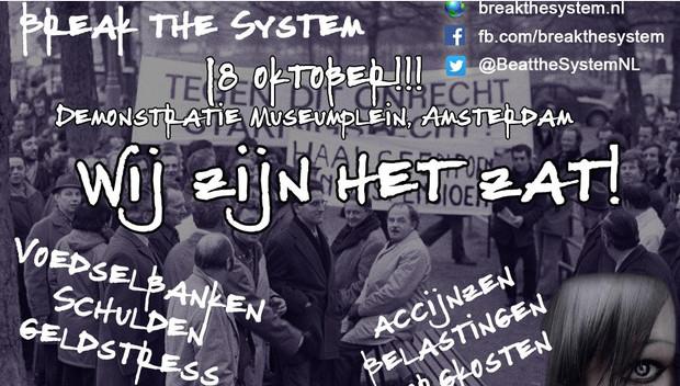 Schamele opkomst bij demonstratie 'Break The System'