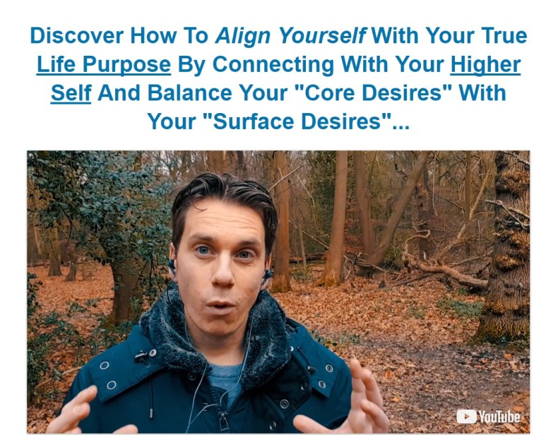Align yourself with your purpose screenshot