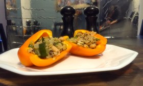 ::Vegan Stuffed Bell Peppers::