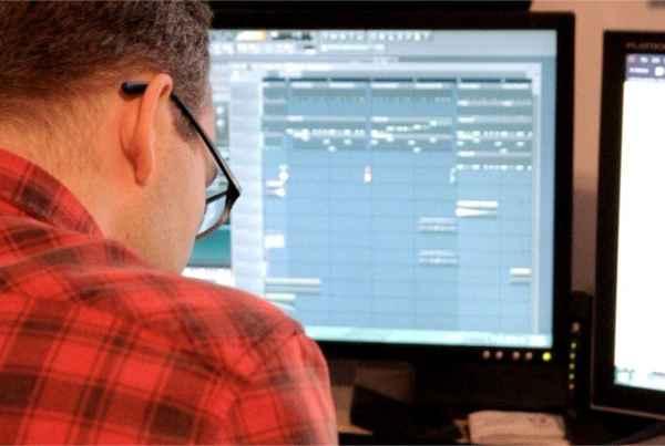Jeff making music