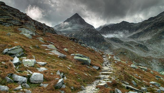 Mountain Trail by Burtn