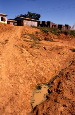 Erosion at Lumber Yard in Autazes