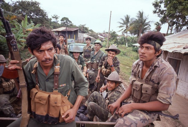 Sandinista Soldiers Going Out on Patrol to Engage Contras