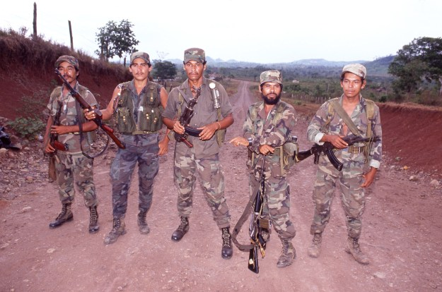 Contra Officers Walking Down from Honduras for Disarmament
