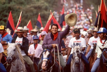 Novelist and Vice President Sergio Ramirez Campaigning for Re-election