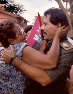Ortega Campaigning in Managua Neighborhood