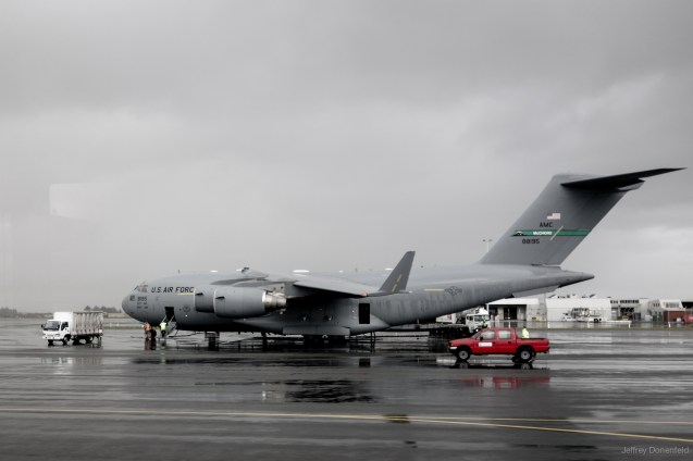 The US Air Force C-17 Globemaster III, which I flew from Christchurch, New Zealand to McMurdo Station, Antarctica. This military jet can fly both people and supplies.