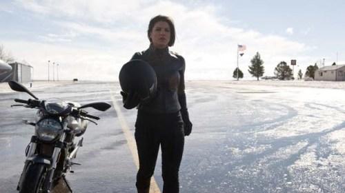 Haywire - Gina Carano and bike