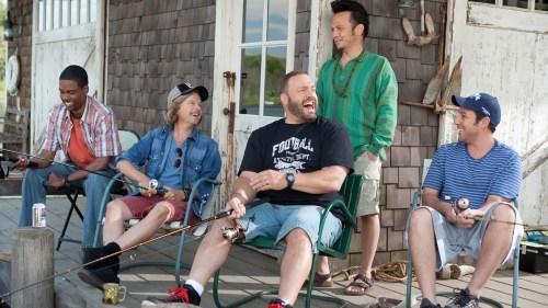 Grown Ups Chris Rock, David Spade, Kevin James, Rob Scheinder and Adam Sandler