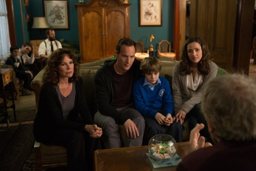 Matt Kennedy/Film District The Lambert family, played by Barbara Hershey, Patrick Wilson, Ty Simpkins and Rose Byrne, return