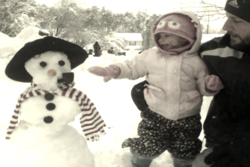 first-snowman