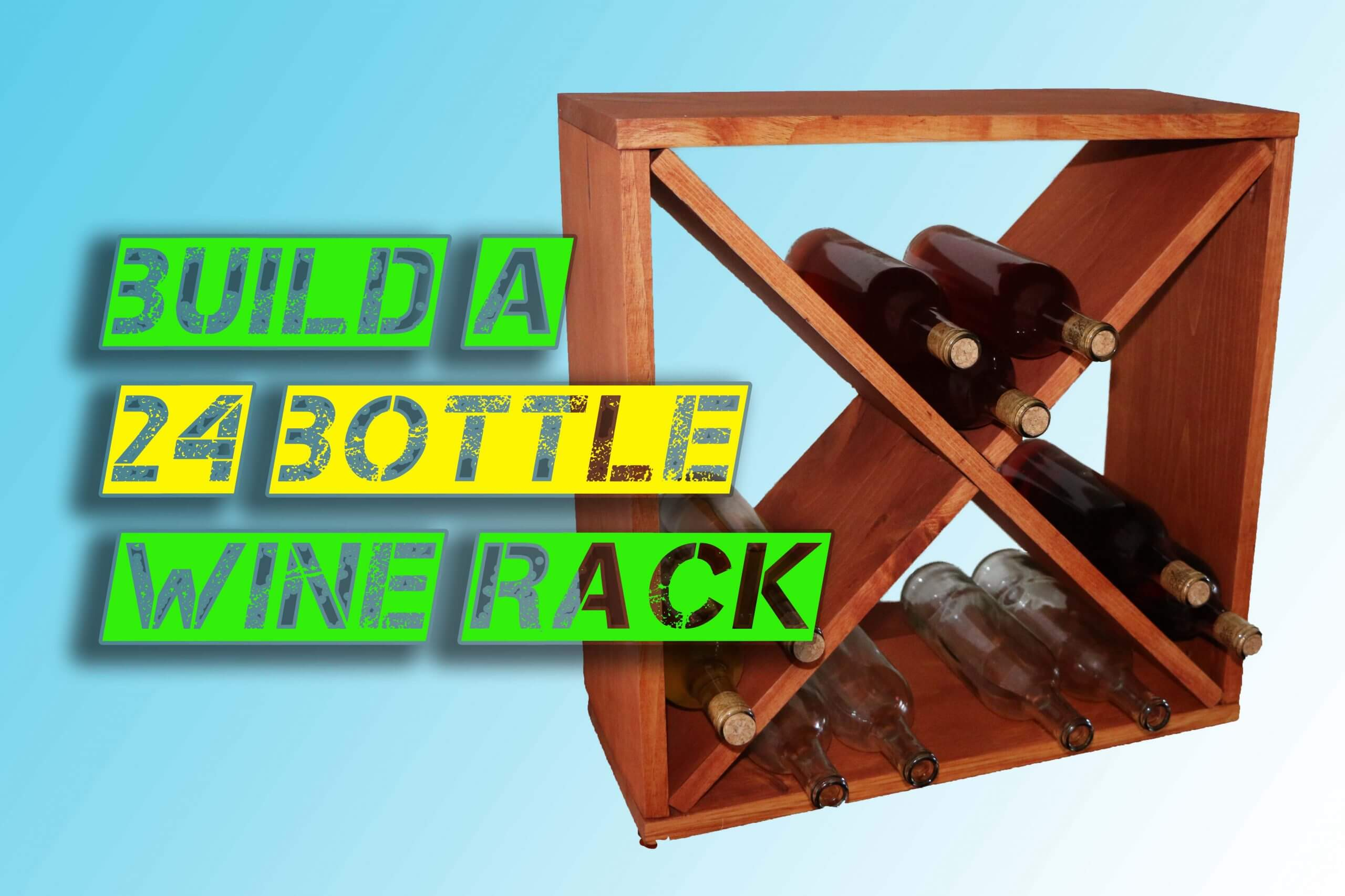 How to make a wine rack storage cube
