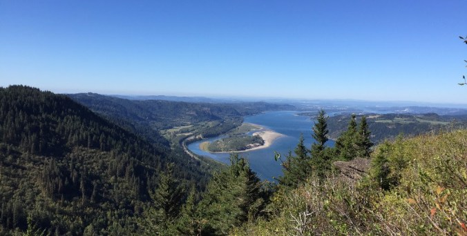 View from Angel's Rest Trail in the Multonomah Gorge, 45 minutes outside Portland