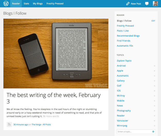 WordPress.com Reader