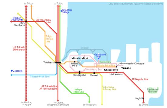 china town map yokohama