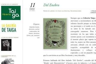 Del enebro Alejandra Acosta Librería Taiga