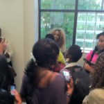 Bloggers swarm celeb blogger Necole for a photo and advice