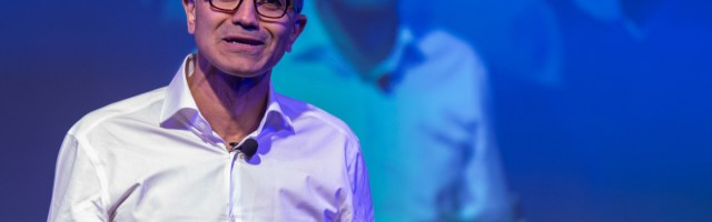 Microsoft Corp Chief Executive Officer Satya NadellaSpeaks At Company Event