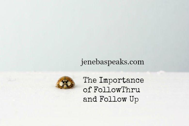 importance of follow thru
