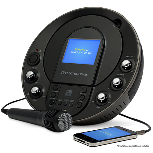 Electrohome Karaoke Machine Portable System with CD+G/MP3+G Player & Smartphone Input