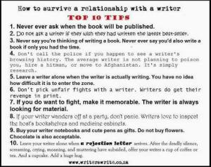 How to survive a relationship with a writer