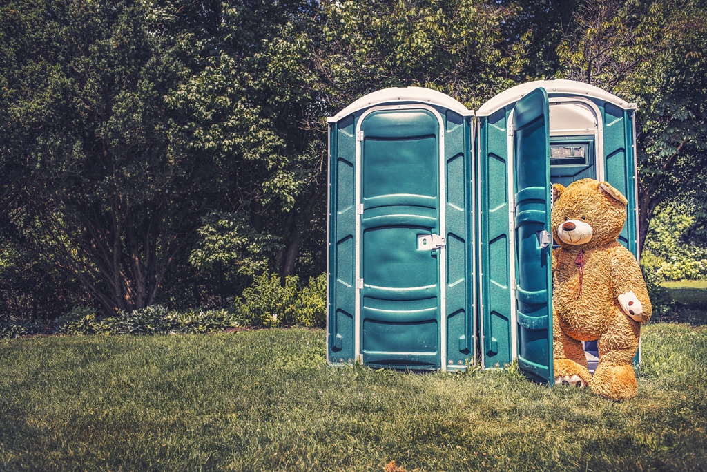 Did you see the bear coming out of the porta-potty?