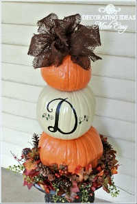 Make a Fall Pumpkin Topiary