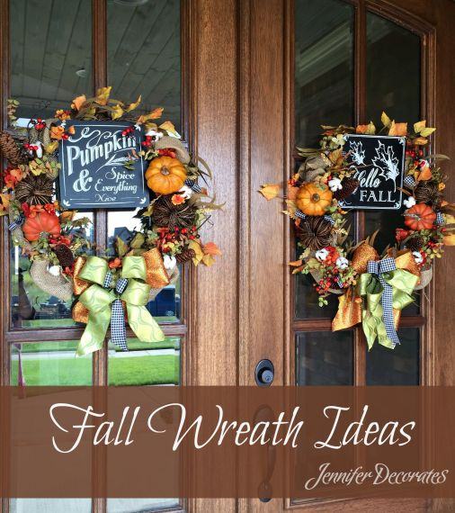 Fall wreath ideas from Jennifer Decorates.com