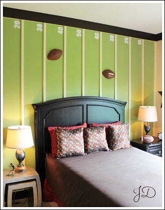 Boy bedrooms see some sports themed bedroom ideas you can for Easy do it yourself bedroom ideas
