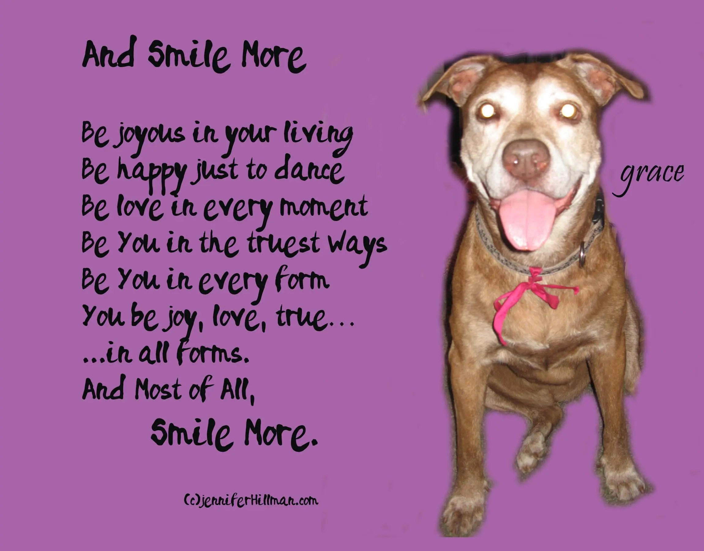 And Smile More….