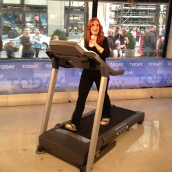 my @todayshow appearance was crazy fun! and a new tales from the treadmill video! ahhh.