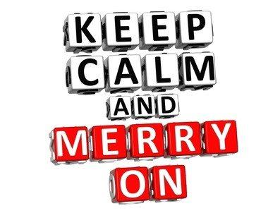 3D Keep Calm And Merry On Button
