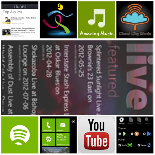 Windows HTC 8X Music apps