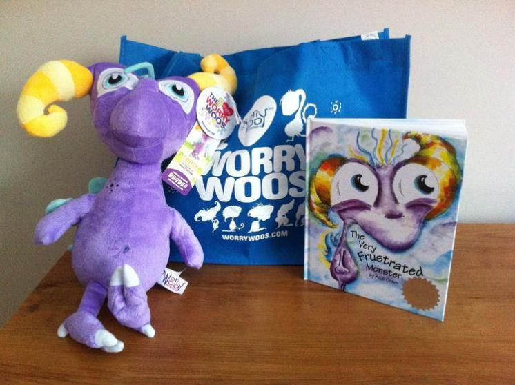 funny Children's Book Worry Woos Twitch Monster and The Very Frustrated Monster Children's Book