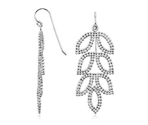 Leaf Earrings from Blue Nile How To Choose Earrings! Yup, I'm a Leaf Chandelier Earrings Gal!